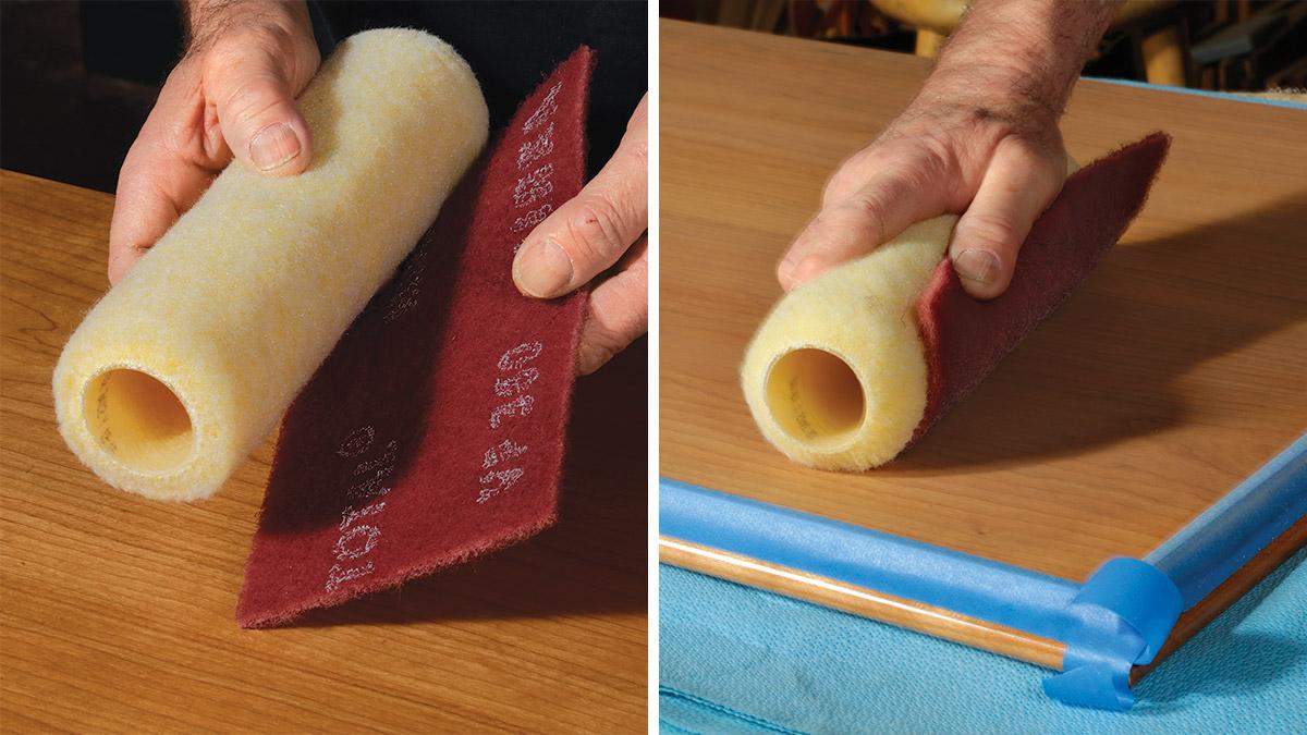 using Mirlon abrasive pads