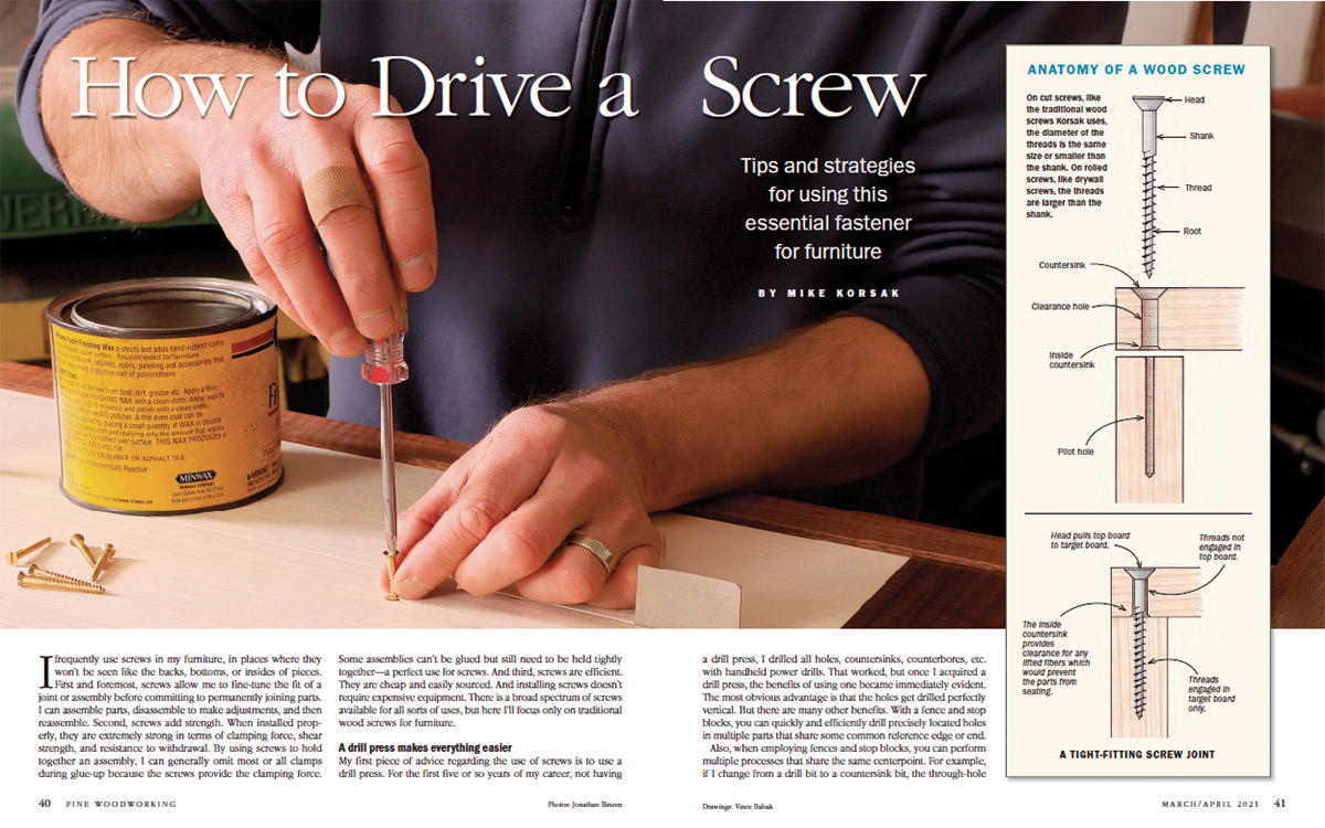 how to drive a screw spread image