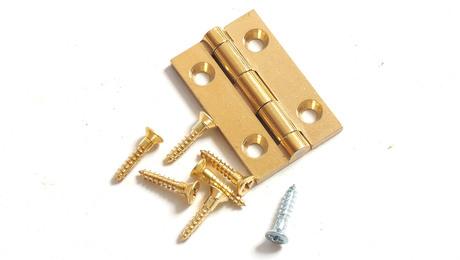 steel or brass screws