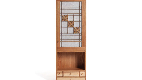 Cabinet with Kumiko Door Panel