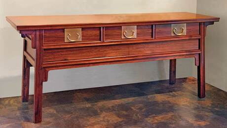 Rosewood and Walnut Coffer