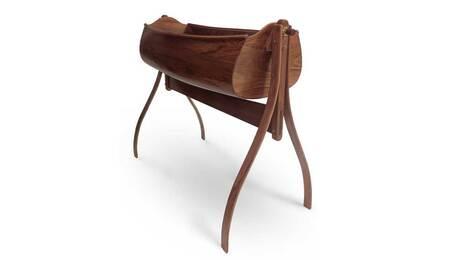 Walnut cradle