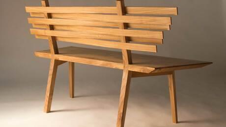 289- Elm bench