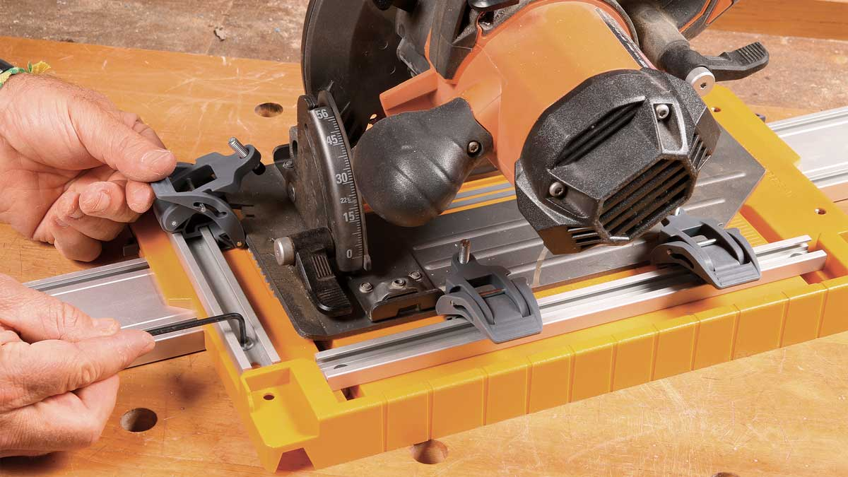 Alignment is easy. Once locked in position to suit your saw, the three toggle clamps let you attach the plate in seconds, returning the saw to the same position each time.