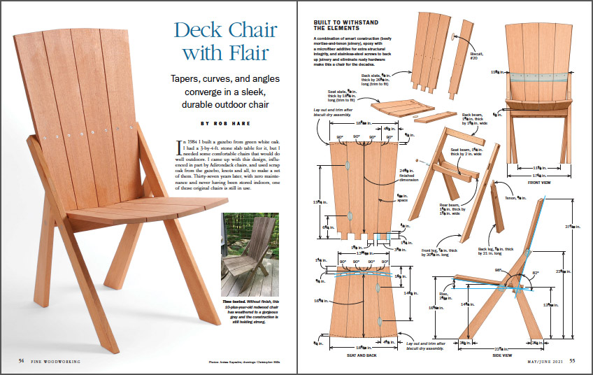 Outdoor deck chair with flair