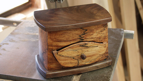 Bandsawn Box with Drawer