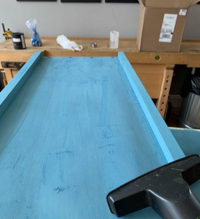 milk paint sanding dust
