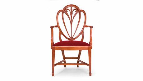 Mahogany heartback chair