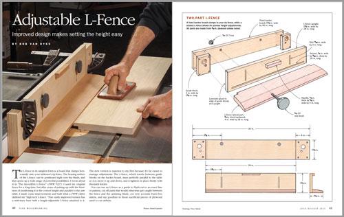 Adjustable L-fence