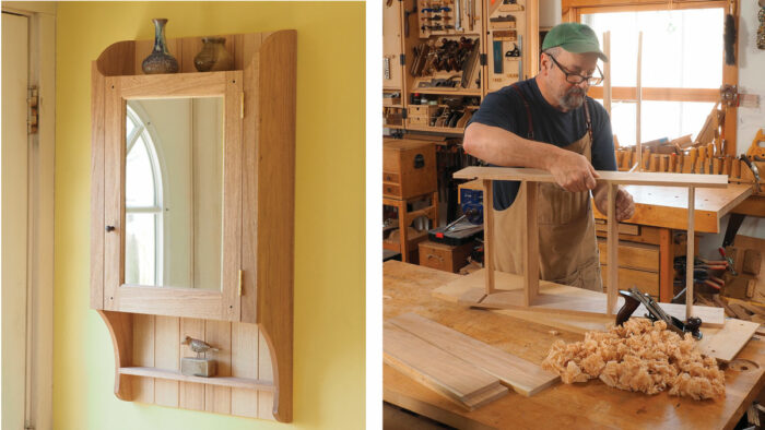 Wall cabinet with simple joinery
