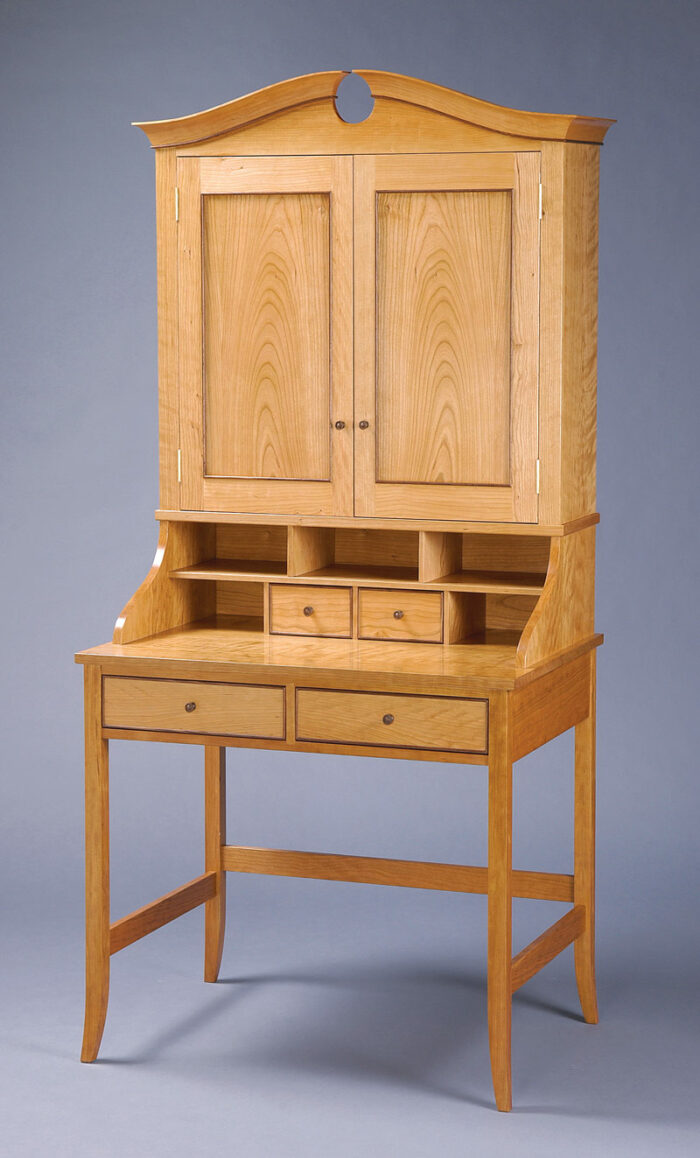 A large wooden piece of furniture