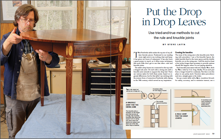 Tips for drop-leaf tables spread