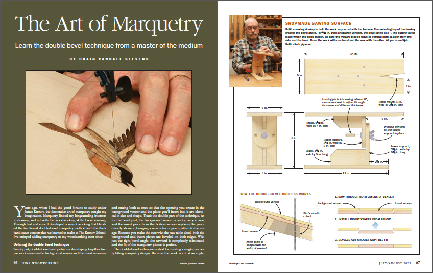 The art of marquetry spread