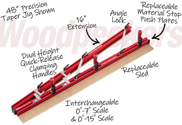 Woodpeckers Launches Precision Taper Jig