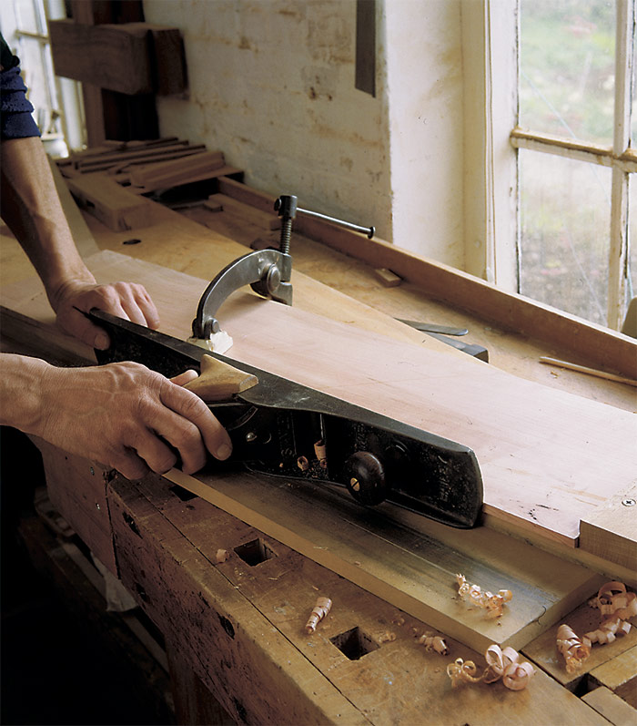 shopmade wooden handle
