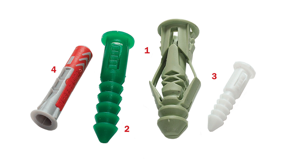 Plastic sleeve anchors