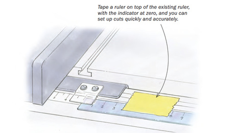 adding a ruler to tablesaw tip fence