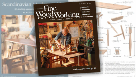 the cover of fine woodworking magazine issue 291