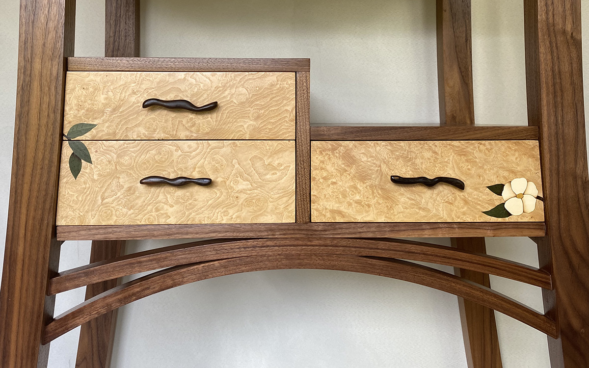 Krenov Cabinet with an Asian Twist close up