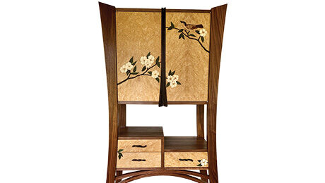 Krenov Cabinet with an Asian Twist