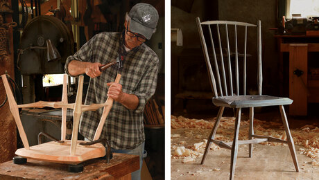 Build a handsome chair with limited tools