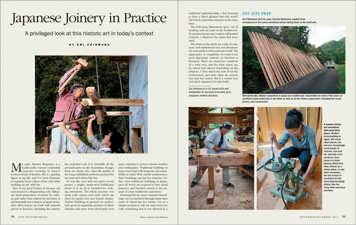 Japanese joinery in practice