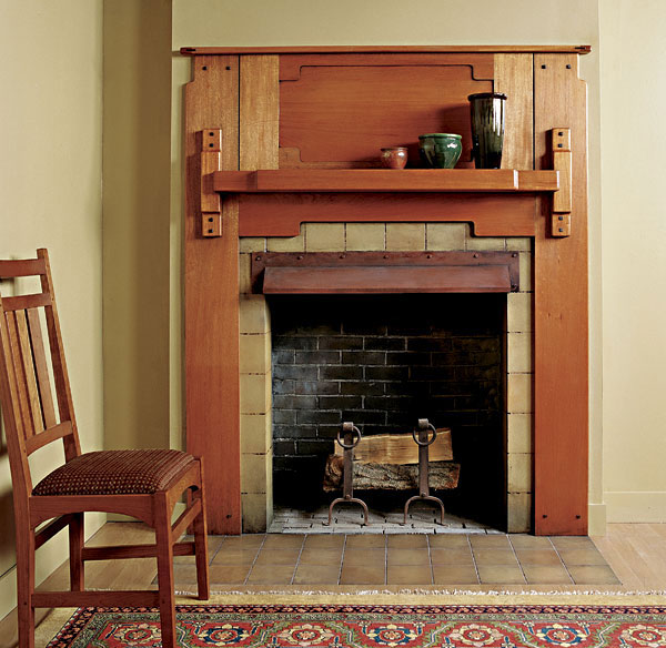 78 Images About Craftsman Style Fireplaces On Pinterest: Greene And Greene Fireplace Mantel