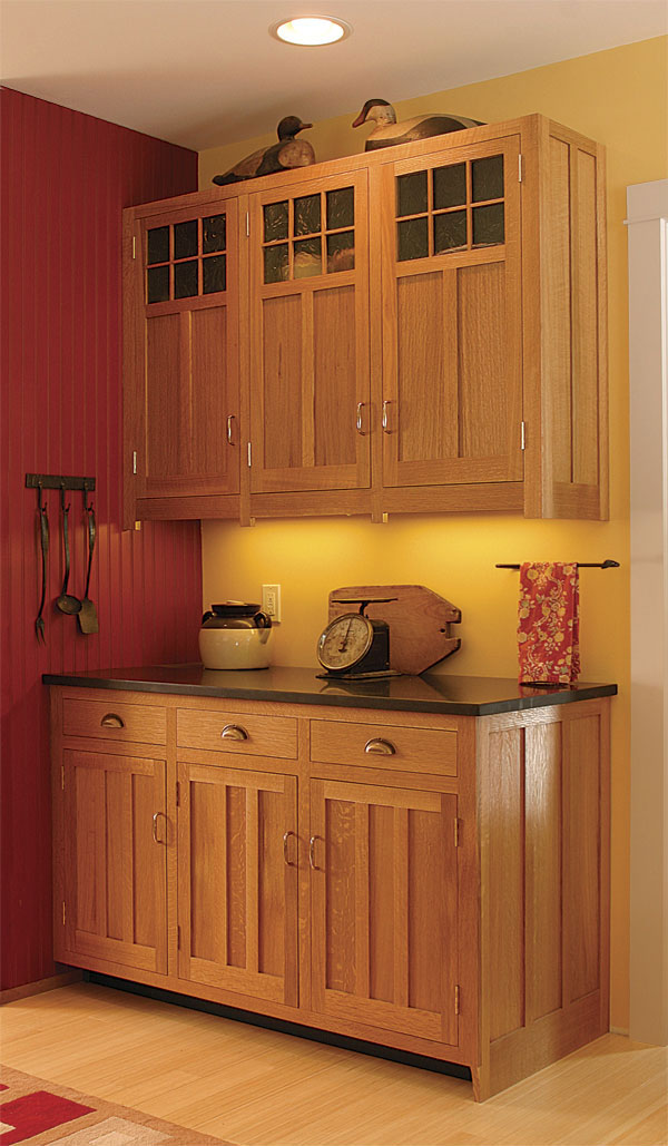 craftsman style kitchen cabinets finewoodworking. Black Bedroom Furniture Sets. Home Design Ideas