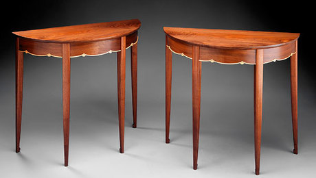 Tables - Demilune - FineWoodworking