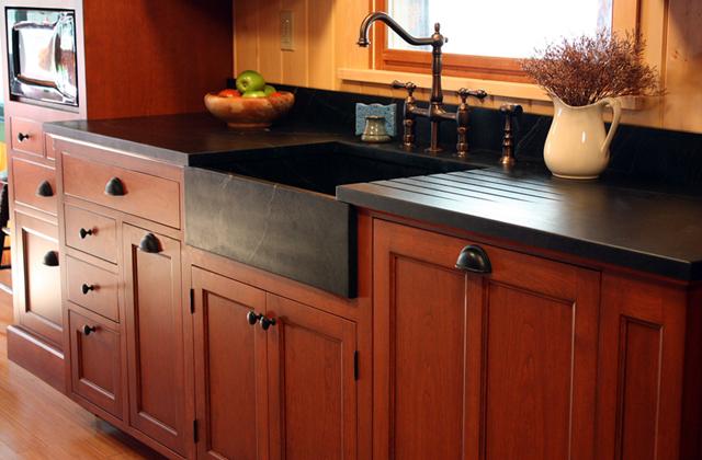 Historic Lodge Kitchen Cabinets Finewoodworking