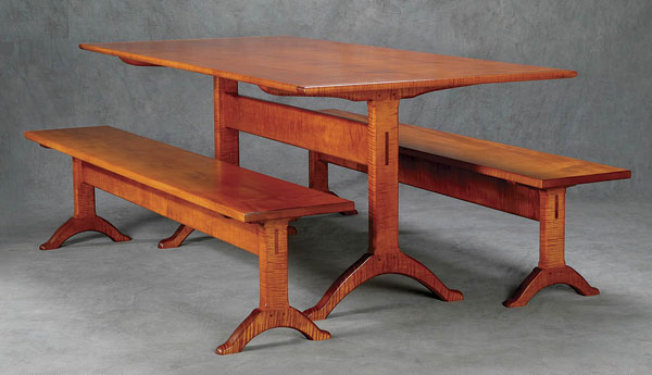 Shaker Trestle Table And Benches Finewoodworking