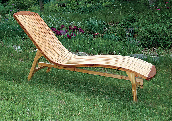 folding chaise lounge. Campbell Designed This Folding Chaise Lounge (19 In. Wide By 67 Long 32 Tall) As A Counterpoint To The Classic Adirondack Chair.