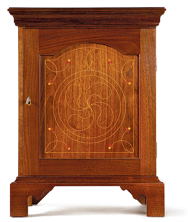 Pennsylvania Spice Cabinet Plans: Pennsylvania Spice Box With Line-and-Berry Inlay