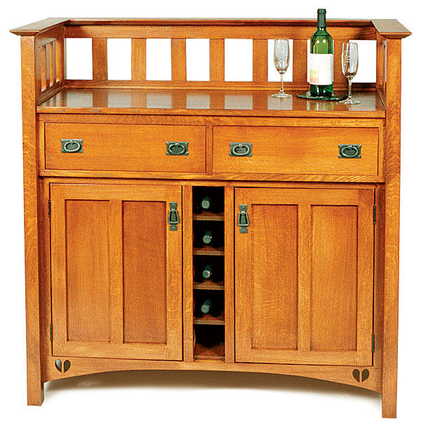 Arts And Crafts Kitchen Cabinets: Arts And Crafts Wine Cabinet