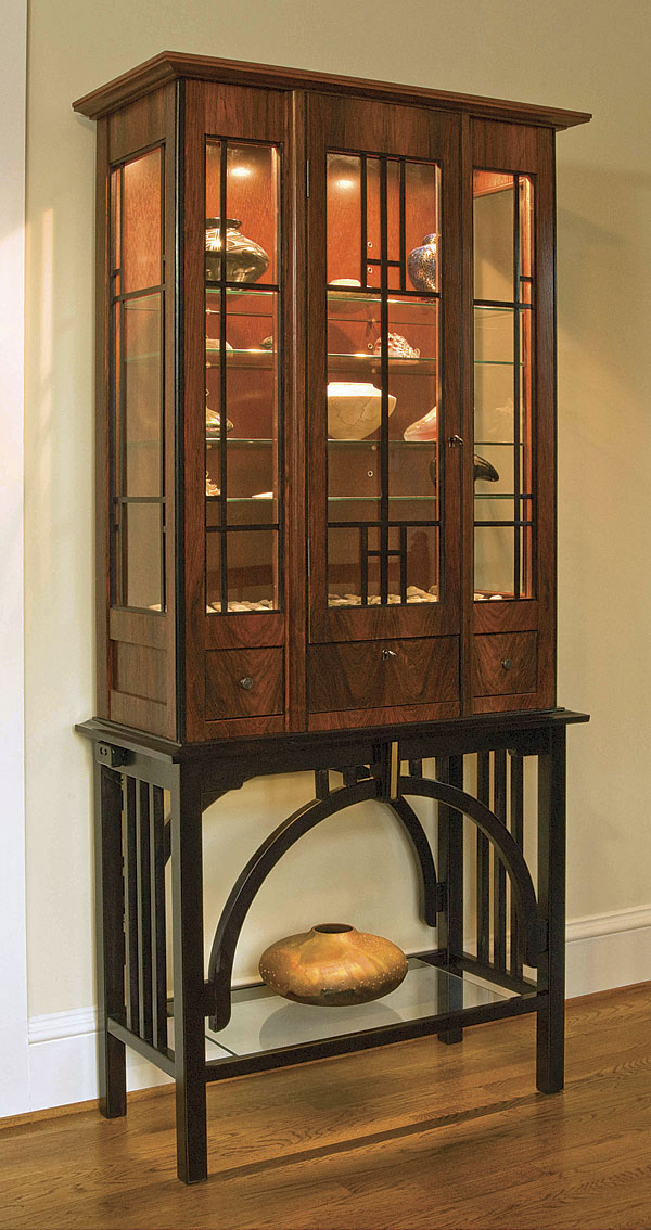Art Deco Display Cabinet Finewoodworking