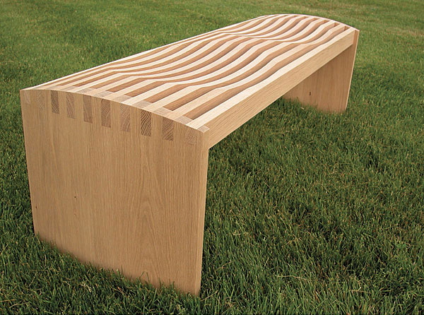 unfinished white oak bench finewoodworking rh finewoodworking com white oak garden furniture white oak outdoor dining table
