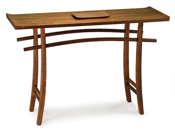 Fine Woodworking End Table Plans: Japanese Torii Arch-Inspired Hall Table