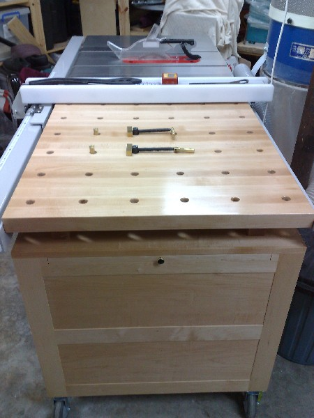 Mobile Tool Chest & Work Bench, Table Saw Extension - FineWoodworking