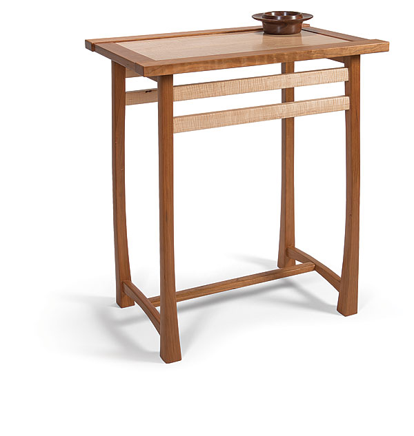 Wellsu0027s Cherry And Tiger Maple Table (16 In. Deep By 24 In. Wide By 28 In.  Tall) Was Inspired By The Work Of James Krenov. Following Krenovu0027s Design  Tenets, ...