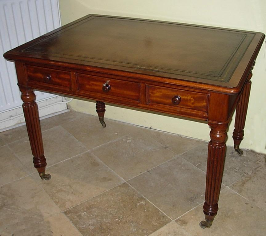 X - Antique Pedestal Desks, Antique Desk Chairs At Tudor Rose Antiques