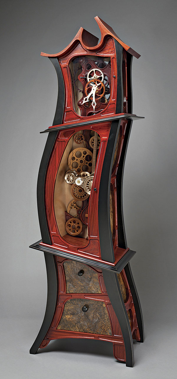 Whimsical Grandfoather Clock Finewoodworking