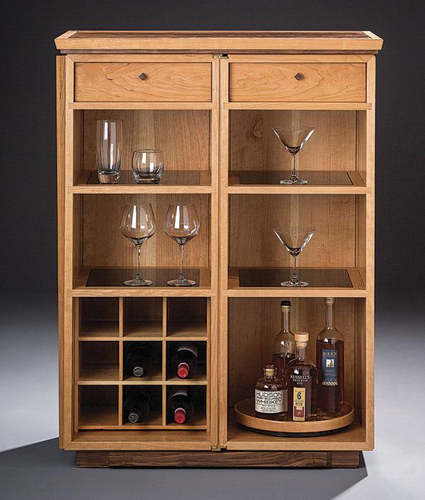 Vintage Kitchen Cabinet Recessed Latch
