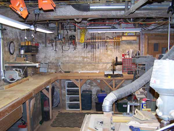 Hamburg Ridge Woodworks Basement Shop Old Basement