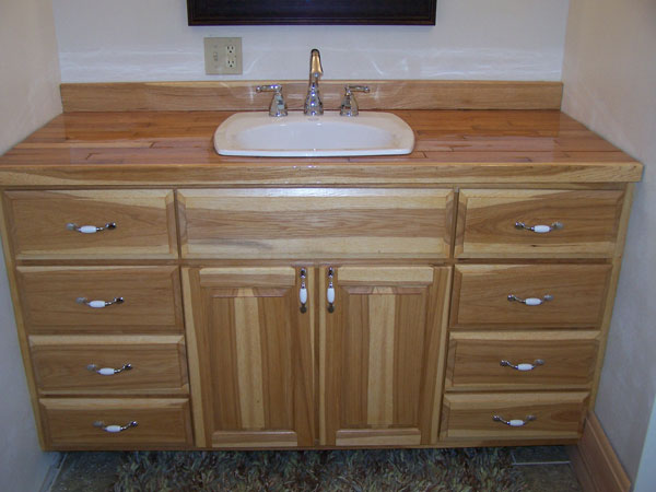 Custom Hickory Bathroom Vanity