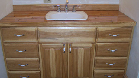 Custom Hickory Bathroom Vanity Finewoodworking