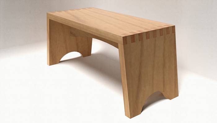 A Step Stool With Box Joints And Loose Tenons