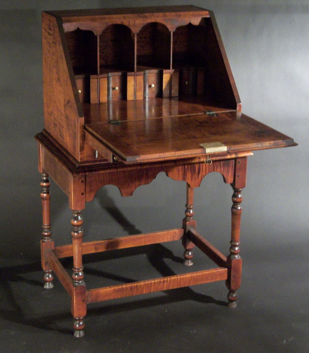 Marvelous Slant Lid Secretary And Thomas Jefferson Swivel Windsor Gmtry Best Dining Table And Chair Ideas Images Gmtryco