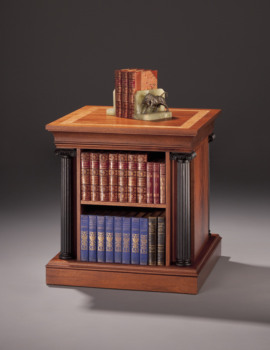 Perfect End Table Containing An Independent Revolving Double Sided Bookcase With  Secret Compartments.
