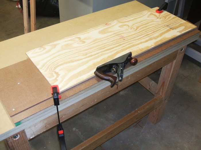 Poor mans jointer finewoodworking piece of plywood i was cleaning up for a cornice was a lot quicker than trying to set up the table saw keyboard keysfo Gallery