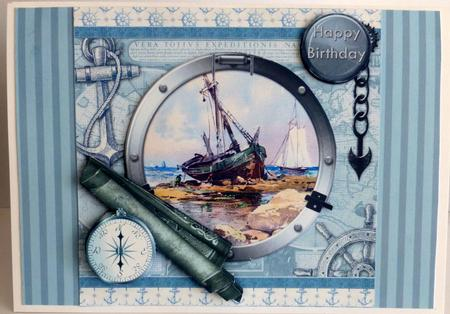 Vintage Fishing Boat Birthday Or Fathers Day Quick Card